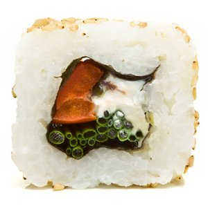 how to make sushi with rice on outside